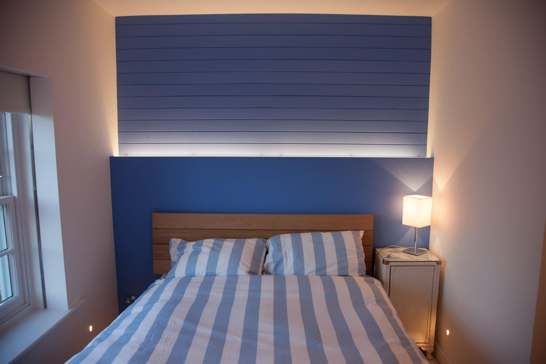 witterings beach house bedroom
