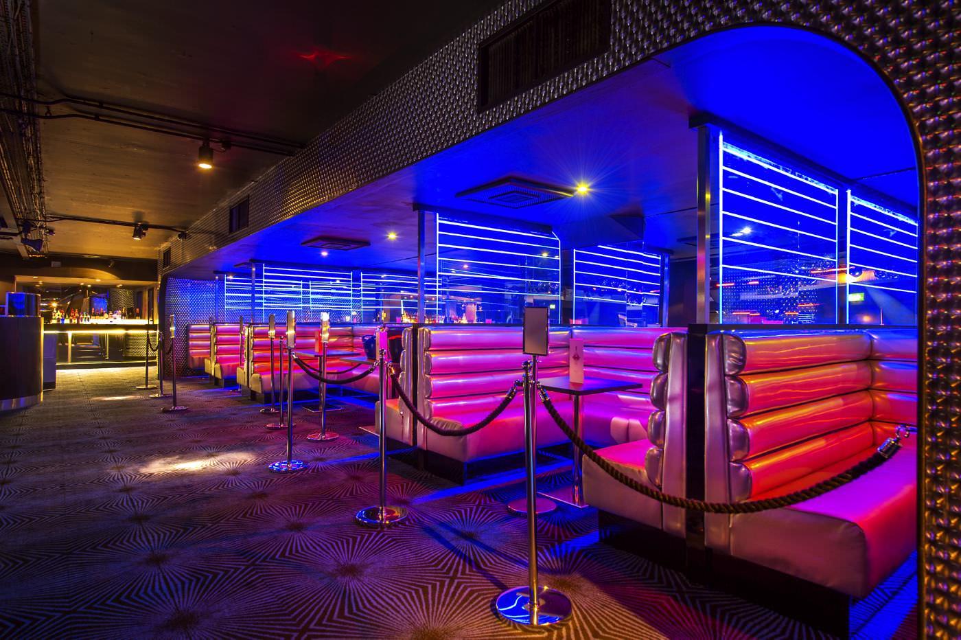 Ballare nightclub seating